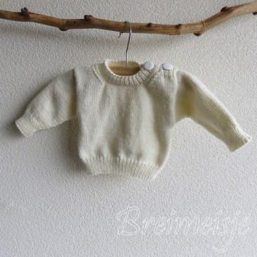 Babytruitje breien pasgeboren baby