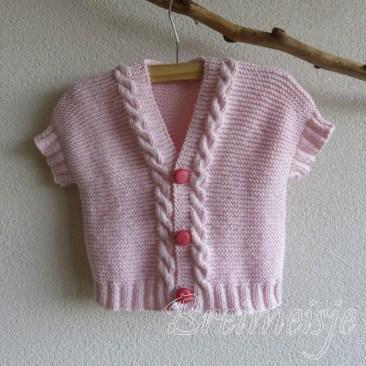 Babyvestje breien maat 68