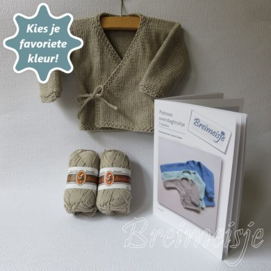 Breipakket baby overslagtruitje maat 44