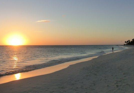 Sonnenuntergang auf Aruba