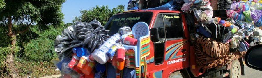 Fahrender Händler in der Dominikanischen Republik