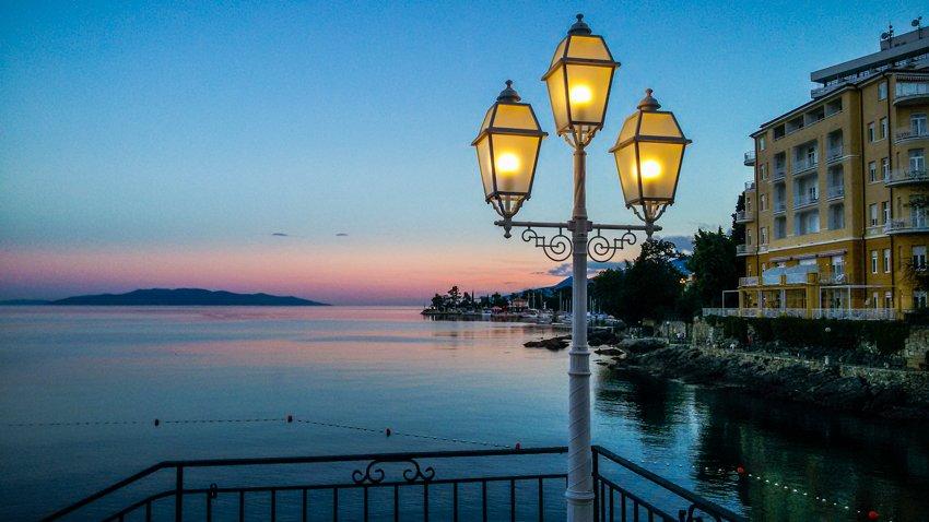 Opatija 02b Blick auf den Hafen- Liane Ehlers-Opatija-Kroatien