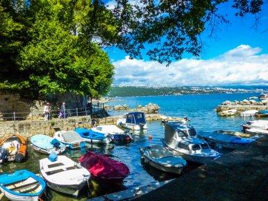 Opatija 09 der Lungomare, führt 12 Kilometer am Wasser entlang- Liane Ehlers-Opatija-Kroatien