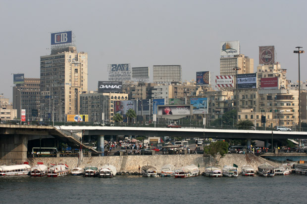 Die Skyline von Kairo.