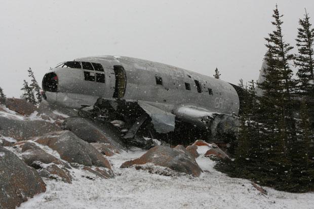 Mit diesem Flugzeug in Churchill bin ich übrigens nicht geflogen.