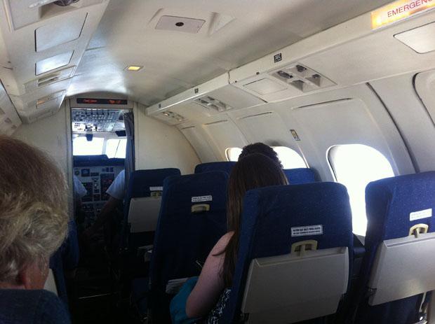 Wenig los war auf dem Flug nach Yellowknife.