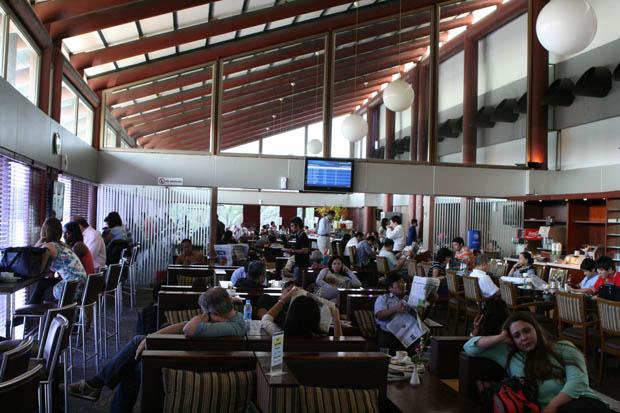 Zeit zum Ausruhen - Die Lounge in Jakarta.
