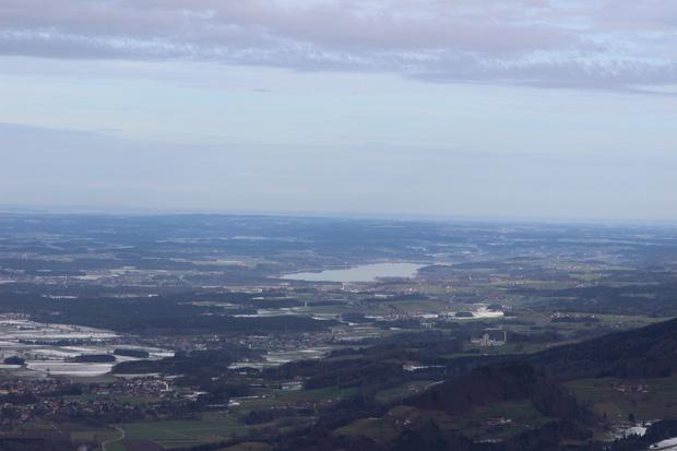 Blick über den Chiemgau mit dem Simsee
