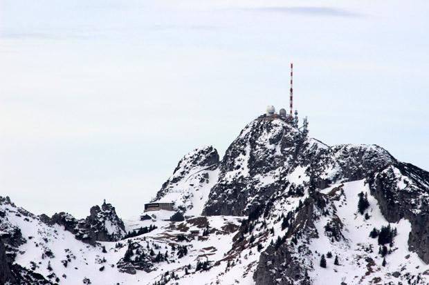 Der Gipfel des Wendelsteins war hervorragend zu erkennen