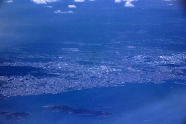 In der Ferne war der Istanbuler Flughafen Sabiha Gökçen zu sehen