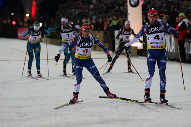 Das tschechische Team beim Wechsel