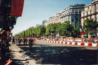 Ich konnte mir die Schlussetappe der Tour de France anschauen