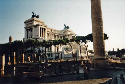 Die Bauwerke Roms beeindruckten mich