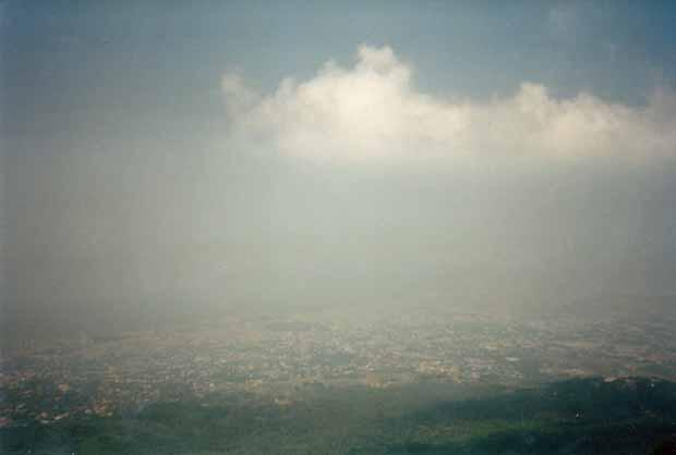 Blick vom Vesuv in Richtung Neapel