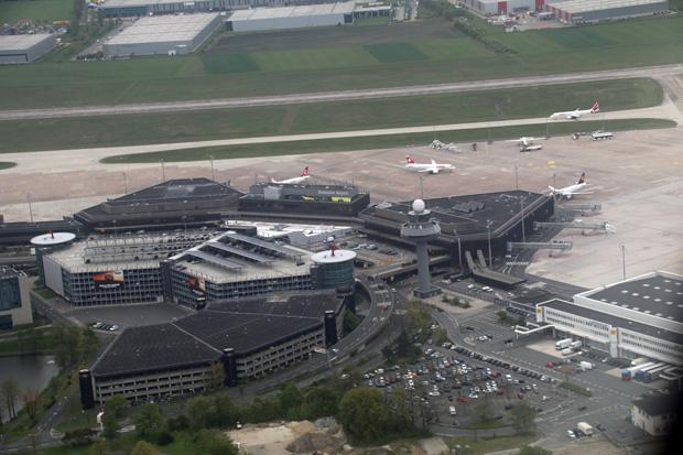 Luftaufnahme vom Flughafen Hannover