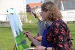 Der Stadtteil Bakklandet in Trondheim in Norwegen zieht Maler an