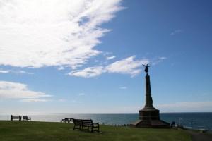 Das Meer vor Aberystwyth in Wales