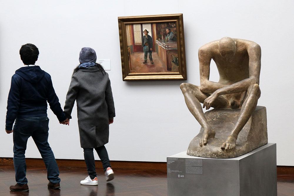 Edvard Munch - In der Schenke, 1890 und Wilhelm Lehmbruck - Sitzender Jüngling, 1916-17