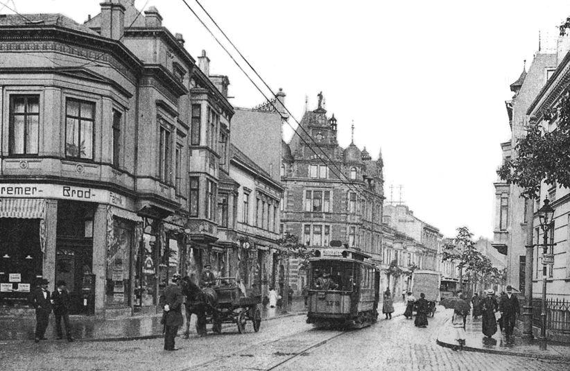 Historia del transporte público en Bremen-Tranvia-1900