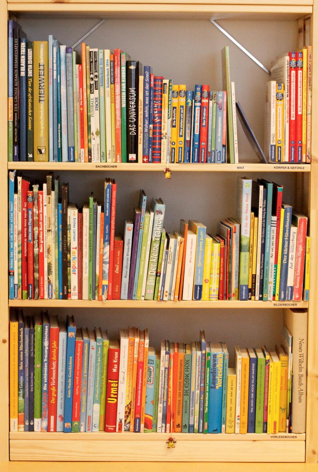 Buchregal mit viele Bücher