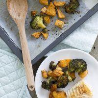 Geroosterde broccoli met zoete aardappel