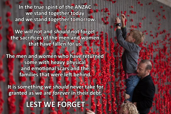 The ANZAC spirit - helping out your mates