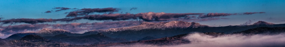 Snowcapped Brindabella mountains