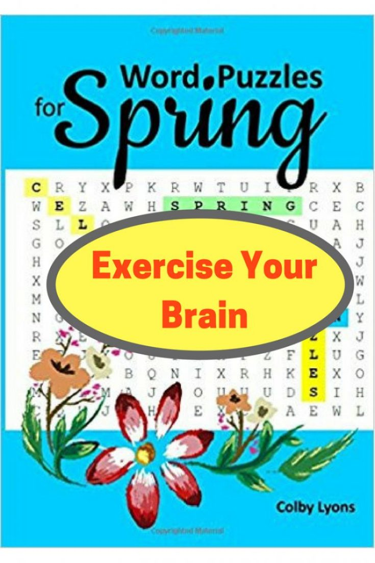 Spring word search puzzle book