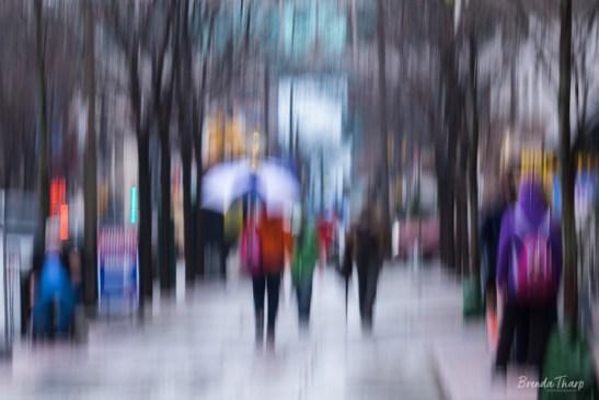 Rainy Day Abstract in Philadelphia.