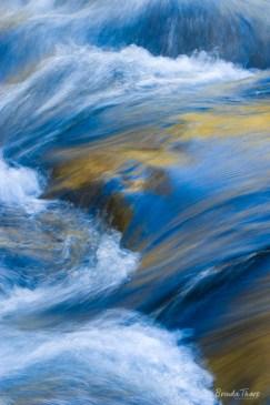Rushing blurred stream,