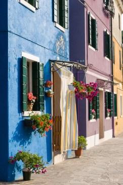 Colorful row houses on Burano.
