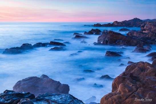 Dusk along Sonoma Coast, California.