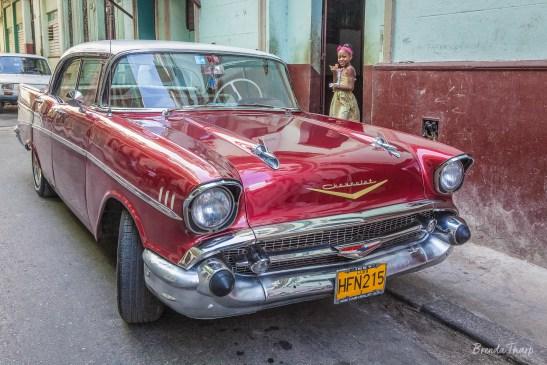 Restored Car on the streets of Havana, Cuba.