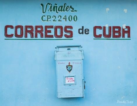 Post office with mailbox, Viñales, Cuba.