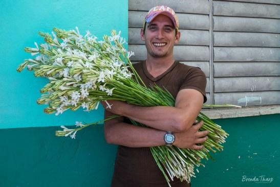 Smiling Flower Vendor