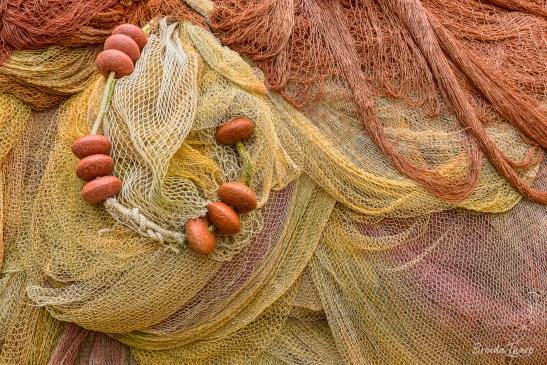 Fishing nets close-up.