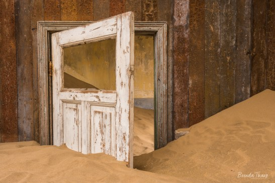 Interior of stairs and railing, Kolmanskop