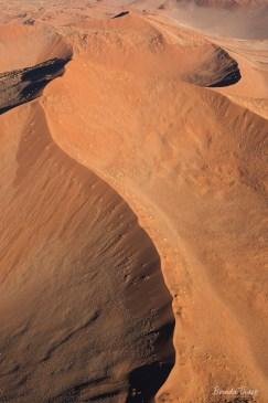 Aerial of Sossuvlei sand dunes, Namibia.
