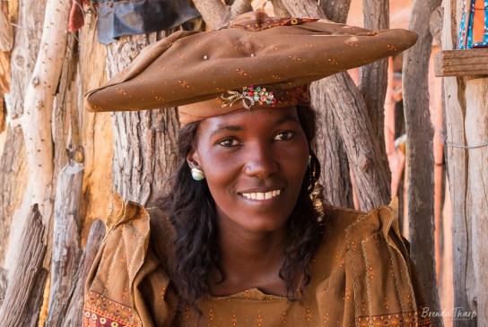 Portrait of a Herrero woman.