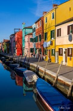 Colorful canal scene, Burano.