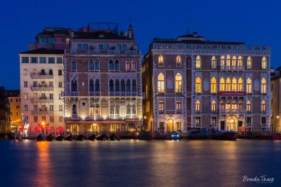 Blue hour scene of Venice, Italy.