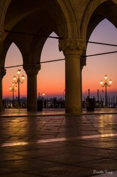 Dawn in St. Mark's Square, Venice.