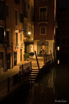 Moody night scene in Venice.