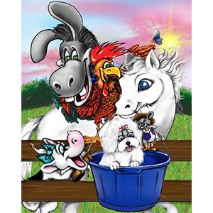 Brenda W. Powell, Sugarman, Sugarman the Pony, animal artwork, animal decorations, animal prints, artwork for childrens rooms, childrens art prints, Fine giclee art prints, fun art prints, funny artwork for children, nursery artwork, nursery prints, pictures of animals, quality artwork for children