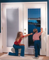 DOORS WITH SHADES OR BLINDS