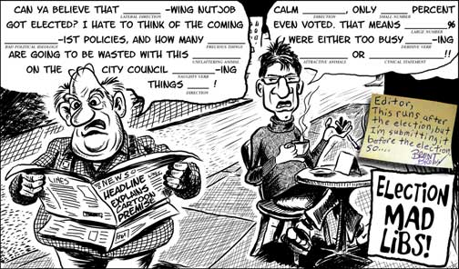 November 4th, 2009 cartoon Click to Enlarge