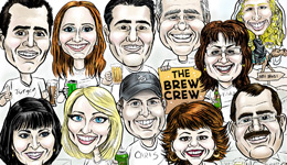 Caricatures by Brent Brown
