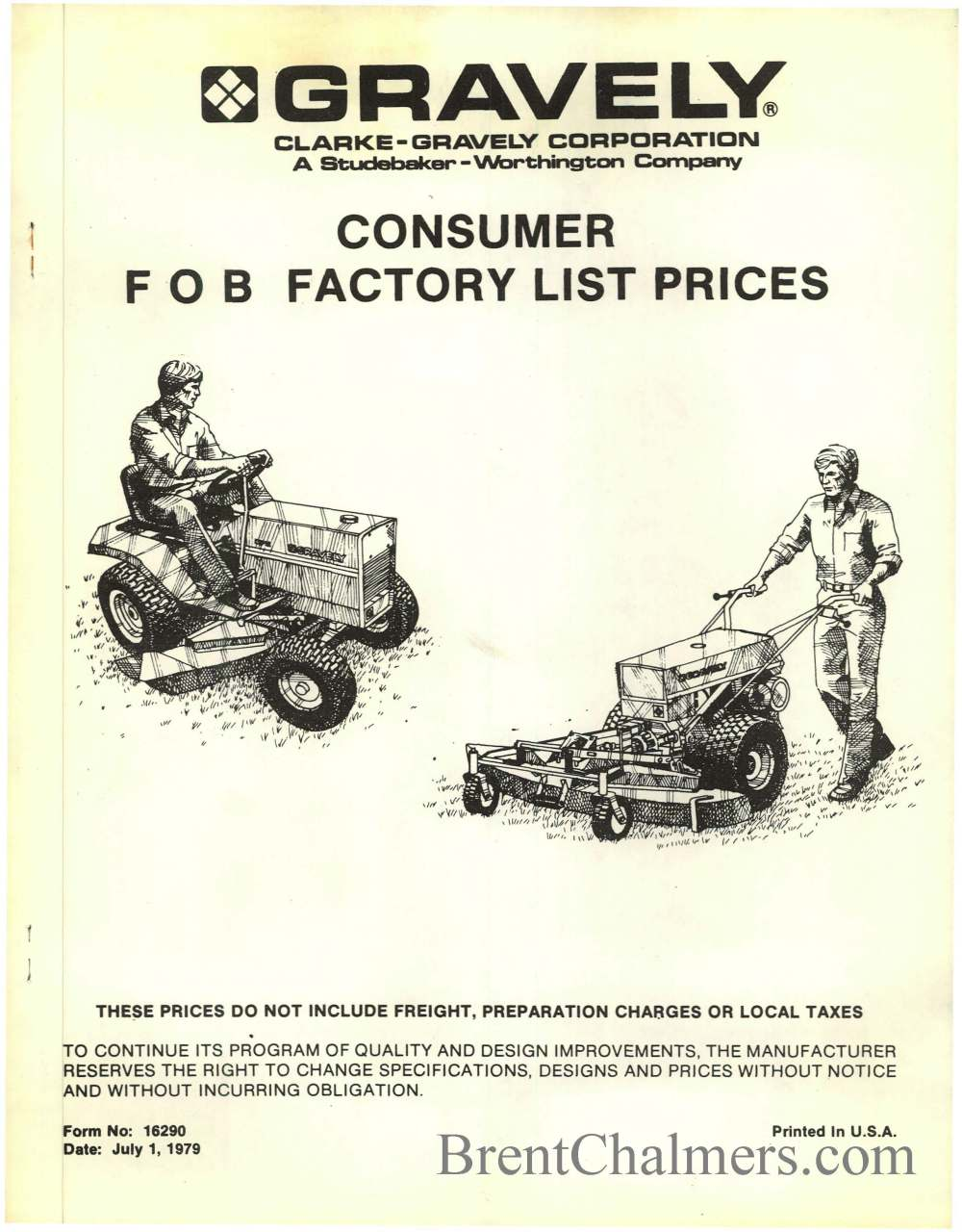 medium resolution of gravely tractor brochures and catalog