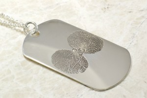 Custom You&Me Dog tag with your fingerprints by Brent&Jess