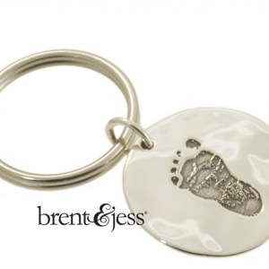 Baby Foot Keychain in Sterling Silver